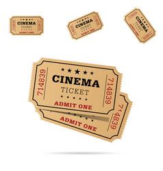 cinema ticket movie entertainment set vector image vector image