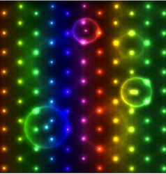 Glowing dots abstract background vector image vector image