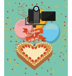 photographic hobby design vector image