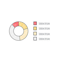 pie diagram data with text on vector image vector image