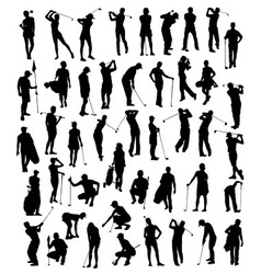Silhouette of Sports Activities Golf vector image
