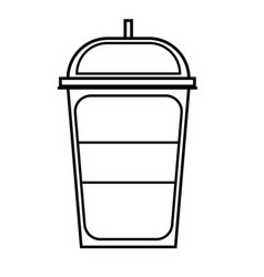 soft cold drink icon vector image vector image