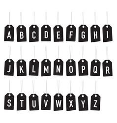 black alphabet tags vector image