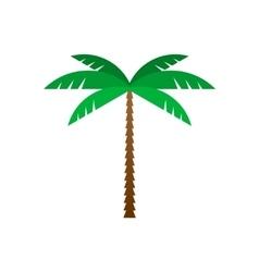 Palm tree flat geometric style vector image