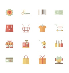 Set of supermarket services and shopping icons vector