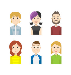 simple people avatar business and carrier characte vector image