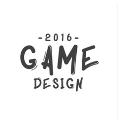 text sign of game design minimalist flat vector image vector image