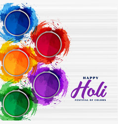 Abstract colorful gulal powder for holi festival vector