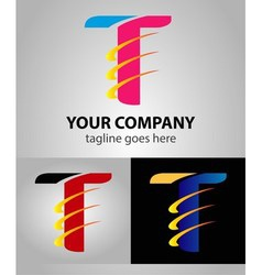 Abstract Letter T logo symbol vector