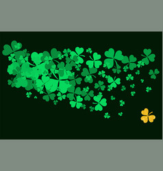 Abstract pattern with green shamrock vector
