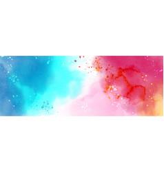 Abstract surface fantasy splash watercolor vector