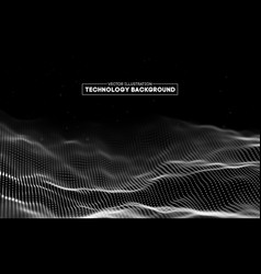 Abstract technology background background 3d grid vector