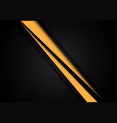 abstract yellow line slash speed overlap on black vector image