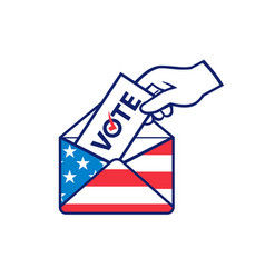 American voter voting posting postal ballot vector