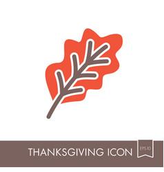 autumn leaves oak icon vector image