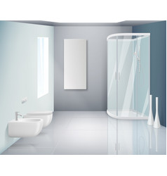 Bathroom interior modern toilet or washroom vector