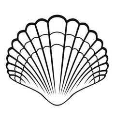 big shell icon simple style vector image