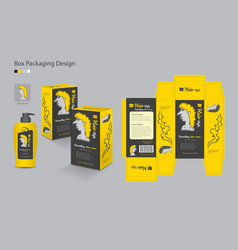 Box packaging -3d box packaging design vector