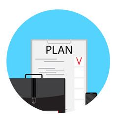 Business plan and project vector