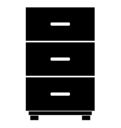 Cabinet the black color icon vector