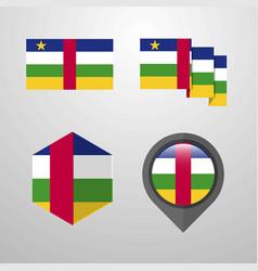 central african republic flag design set vector image