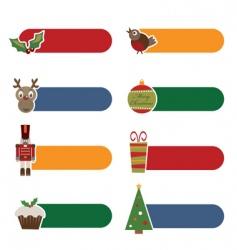 Christmas tabs vector