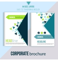 Clean Brochure design annual report cover vector