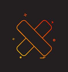 close icon design vector image