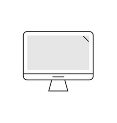 computer system unit linear icon on white vector image
