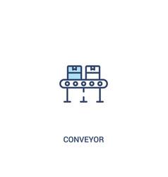 Conveyor concept 2 colored icon simple line vector