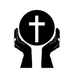 crucifix christian or catholic icon image vector image
