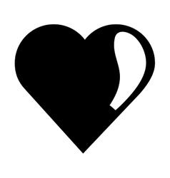 Cute heart icon vector