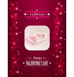 Design with hearts and flares for valentine s day vector image