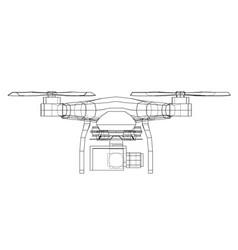 Drone concept rendering of 3d vector