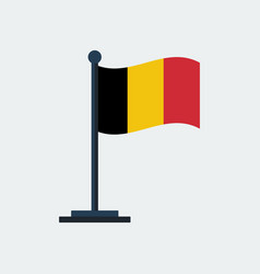 flag of belgiumflag stand vector image