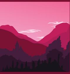 Flat design landscpe background vector