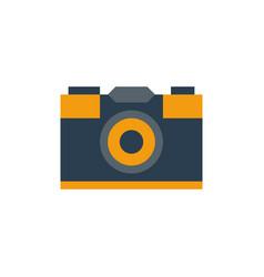 flat retro camera vector image