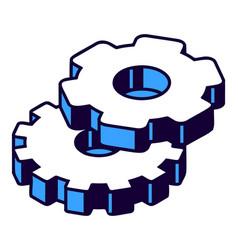 gear isometric icon mechanism element vector image
