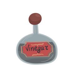 Glass bottle of vinegar element for restaurant or vector