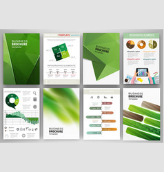 green business backgrounds and abstract concept vector image