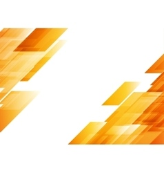 Hi-tech orange shapes abstract background vector
