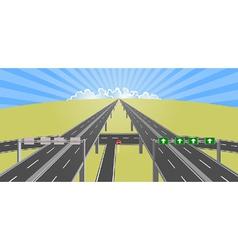 Highway to horizon vector