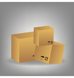 Icon of boxes vector