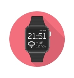 icon smart watches vector image