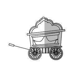 Isolated carnival cart design vector