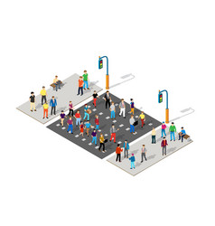 isometric people walking vector image