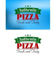 Italian pizza retro poster vector