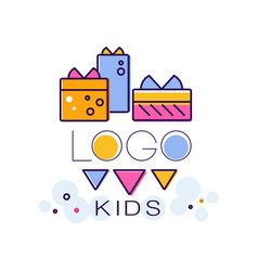 kids logo creative concept template design vector image