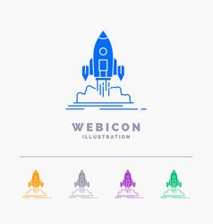 launch mission shuttle startup publish 5 color vector image
