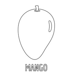 Mango icon outline style vector